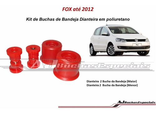 Fox Até 2012 Buchas Da Bandeja Dianteira Em Poliuretano 04pç Original