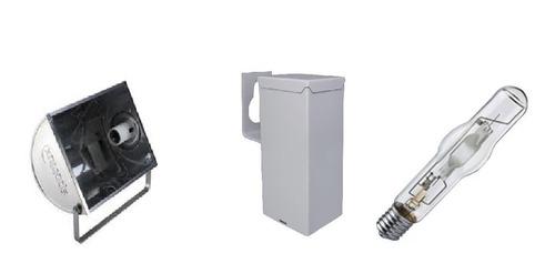 Kit Refletor Lampada E Reator Hqi Vap Metalica 250w Original