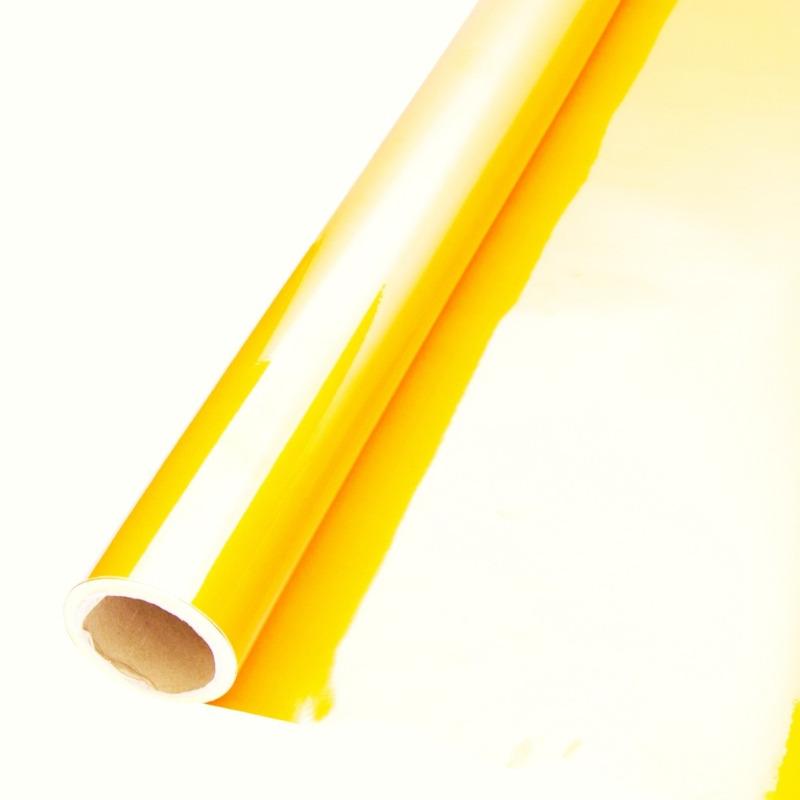 Vinil adesivo refletivo amarelo (grau comercial) larg. 1,24 m