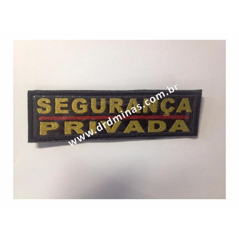 Etiqueta Bordado Segurança Privada - U  15 x 5