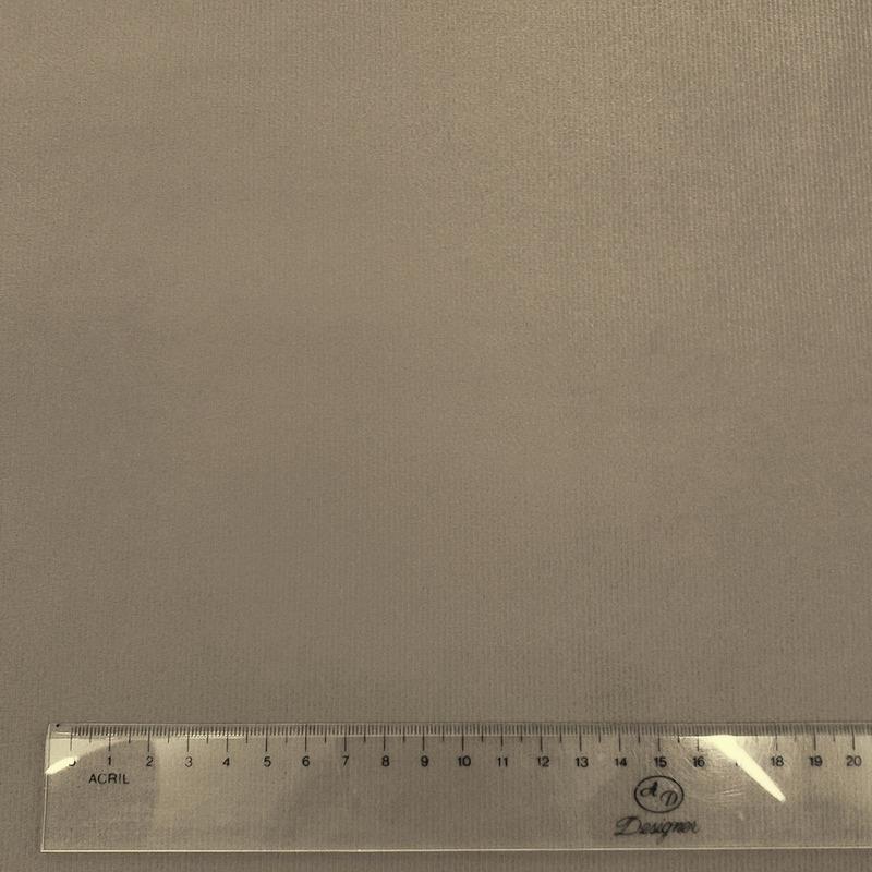 Tecido suede veludo cacau Larg. 1,40 m