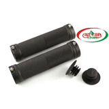 MANOPLA PARA MTB 130MM C/TRAVA PRETO