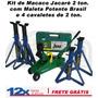 Kit Macaco Jacare 2 Ton.c/ Maleta 4 Cavaletes 2 Toneladas