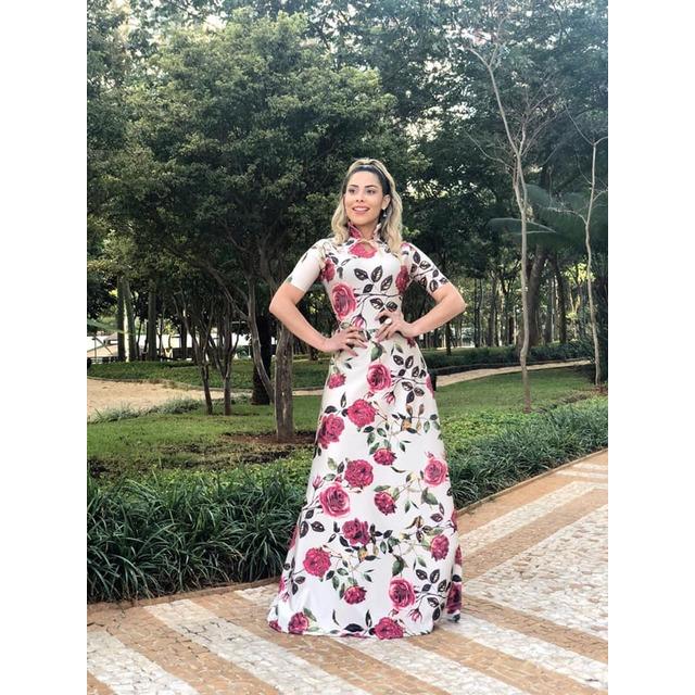 dc2ba2e07b Vestido Feminino Longo Gola Alta Moda Evangélica em Paulínia - SP ...
