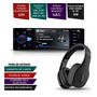 Kit Mp5 Player Automotivo Fone Ouvido Preto Bluetooth