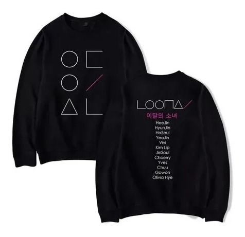 Blusa Moletom Loona Kpop Garota Do Mes Integrante Nas Costas Original
