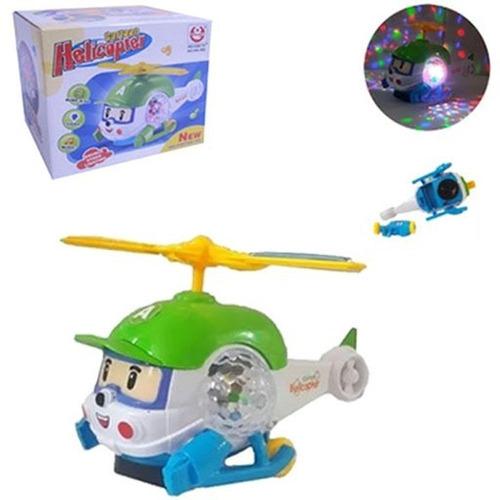 Helicóptero Avião Brinquedo Musical Bate-volta C/luzes 22cm Original