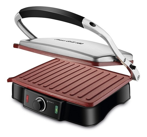 Press Grill Mondial Red Ceramic Pg-02 Original