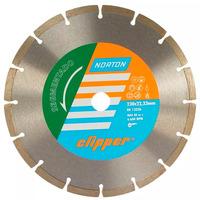 Disco Diamantado Clipper Norton Segmentado 230 x 8 x 22,23