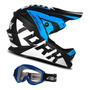 Capacete Infantil Oculos Moto Cross Trilha Factory Fosco