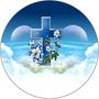 Capa Estepe Personalizada Pneu Ecosport Crossfox Aircross Jimny Cabo Aço Cadeado Aro 16 Religiosa Crucifixo Cruz