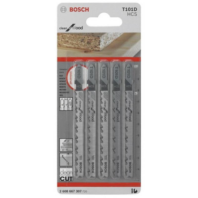 Cartela de Lâmina Bosch Tico Tico T-101D 5 peças