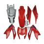 Kit Carenagem Nxr150 Bros 2012 Ks Vermelha Com Adesivo