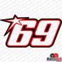 Adesivo 69 Nicky Hayden Moto Gp Super Bike Motogp Racing