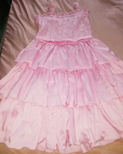 Lindo Vestido Rosa Tam 14 Usado Apenas 1 Vez Original