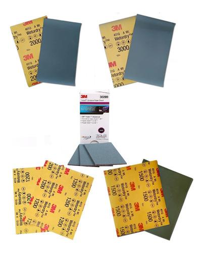 5 Lixas 1200 / 1500 / 2000 / 3000 - 401q + 1 Trizact 5000 3m Original