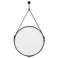 Espelho Adnet Bondi Oruy em Couro Legítimo 60cm