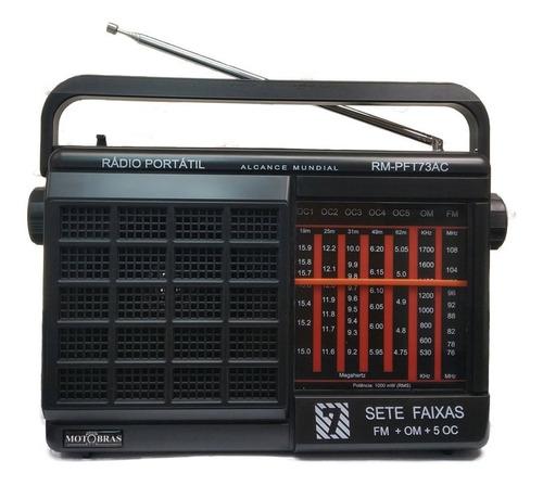 Rádio Portátil --- 7 Faixas -- Rm-pft73ac - C/ Nf E Garantia Original