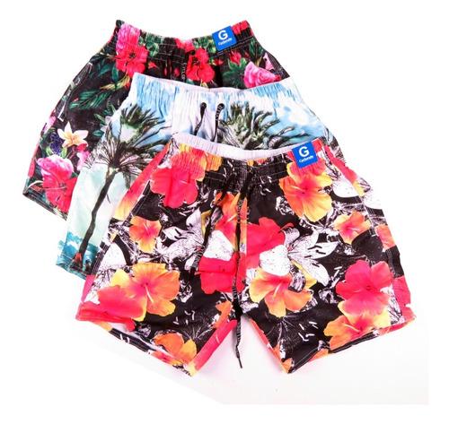 Bermuda Short Masculino Moda Praia Summer Fashion Kit 3 Original