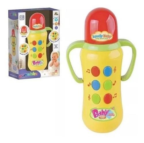 Brinquedo Musical Infantil Mamadeira Toca Musica Luzes Baby Original