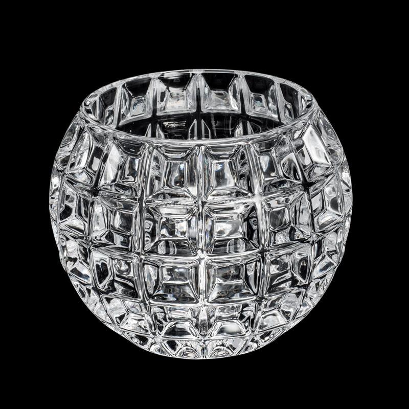 Vaso De Cristal Rose 18X13,5Cm - Wolff