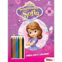 Ler E Colorir Blister Com Giz Princesinha Sofia
