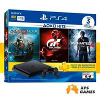 Novo Playstation 4 Slim 1tb + 3 Jogos - New - 10 Jogos grátis