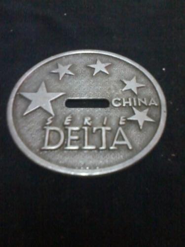 Medalha Medalhão Metal - Série Delta China Original