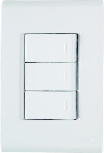 Conjunto Interruptor Triplo Simples Tramontina Liz 2 Original