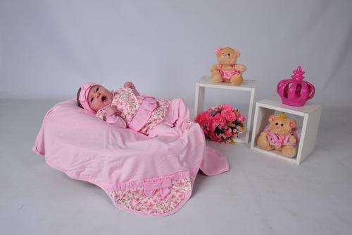 Comprar Kit Saída De Maternidade Rosa Floral + Helena Vermelho ... af87c4b27ef