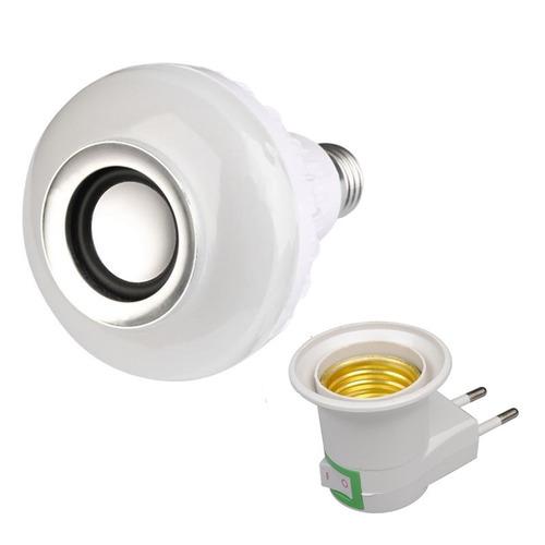 Lâmpada Led Rgb 12w Caixa De Som Bluetooth + Soquete Tomada