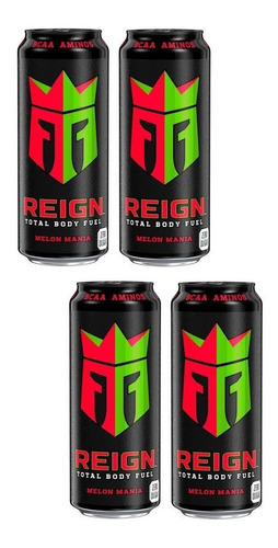 4 Bebidas Energética Reign Body Fuel Sabor Melon Mania 473ml Original