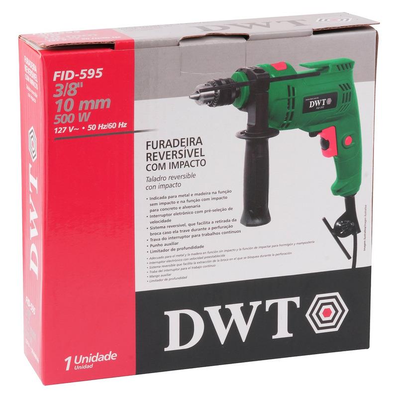 """Furadeira com impacto 3/8"""" DWT FID595 - 6005595"""