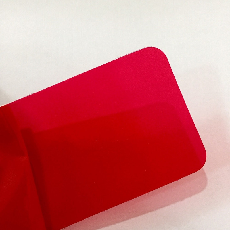 Adesivo vermelho para farol e lanterna Larg. 0,50 m