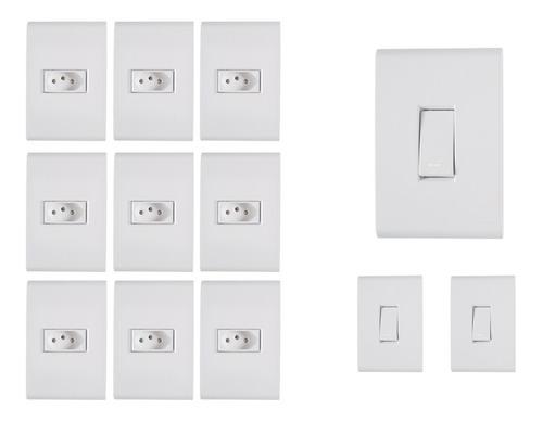 9 Tomadas 10a + 3 Interruptor Simples  Liz - Tramontina Original