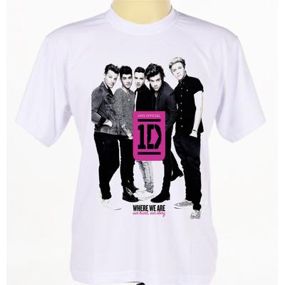 Camisas Camisetas Banda One Direction Pop Rock Manga Curta em Alagoinhas