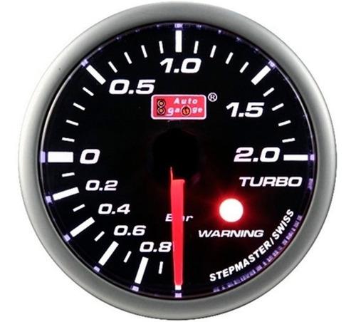 Auto Gauge Pressao De Turbo 2kg 52mm Smoke 270 Stepper Motor Original
