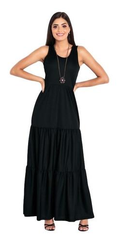 Vestido Longo Estampado Com Fenda Recorte Na Saia P.e Original