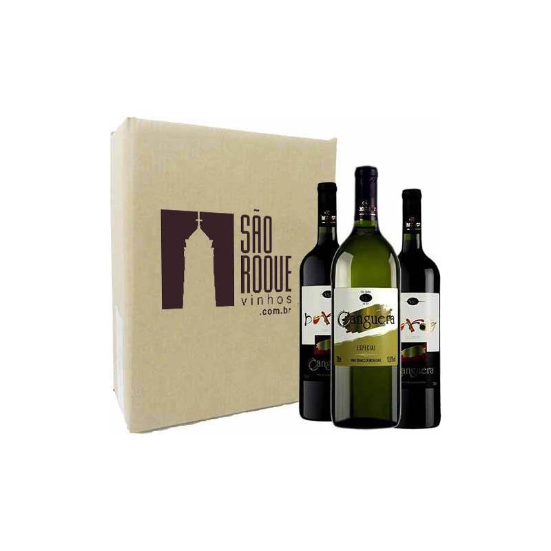 Kit Vinho Bordô Suave + Seco + Branco Niagara - Canguera