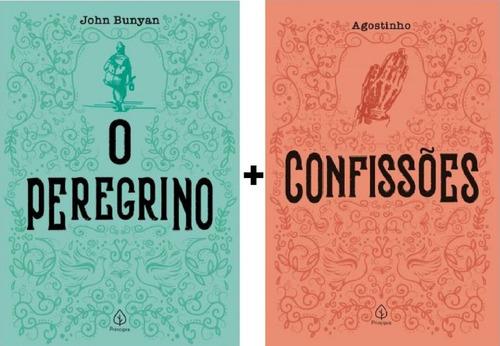 Kit 2 Livros Clássicos Cristãos  O Peregrino  +  Confssões Original