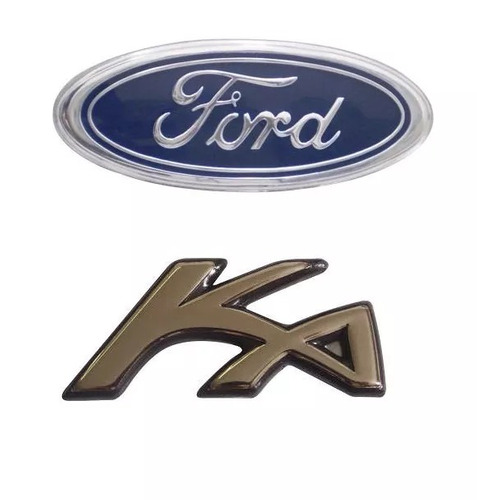 Kit Emblemas Ford Ka Sendo Ford Grade + Emblema Ka 97 A 07
