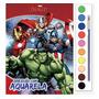 Livro Com Aquarela Marvel Avengers Vingadores