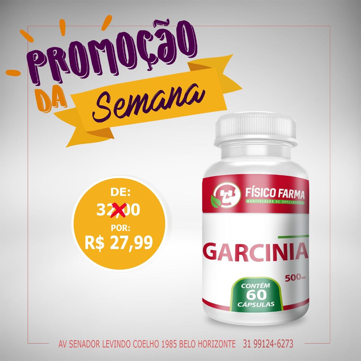 PROMOÇÃO - GARCÍNIA 500mg    60 C&aa...