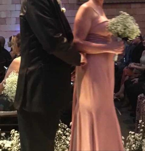 Vestido Festa Rosê Tam 40 Usado 1 Vez Novissimo Lindo Original