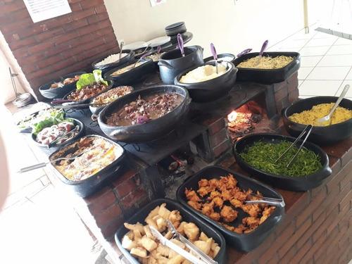 Conjunto Buffet Montado Panelas De Barro Para Restaurante