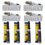 4 Bobinas Jogo Velas Ignição Renault Scenic 1.6 16v Gas