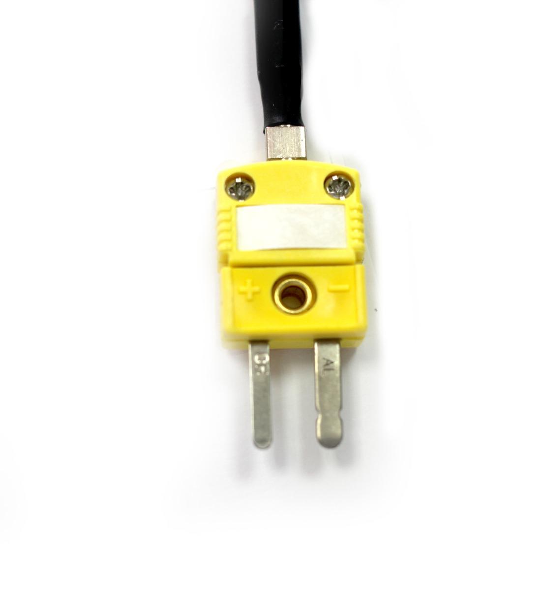 Sensor Termopar tipo K ponta exposta 0,3mm x 100mm com bucin