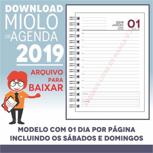 Download Miolo Agenda 2019 | Pdf E Corel Draw X7 | A5p1m3