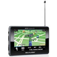 "Navegador GPS Multilaser Tracker III Tela 4.3"" TV Digital - GP034"