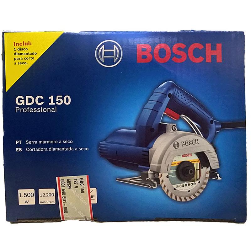 "Serra Mármore Titan 1.500W 5"" (125 mm) + Disco - GDC 150 - Bosch"
